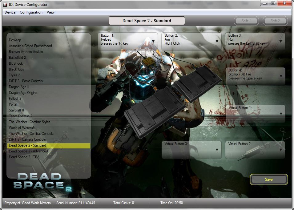 "Dead Space 2 Basic ""Hands and Feet"" Config"