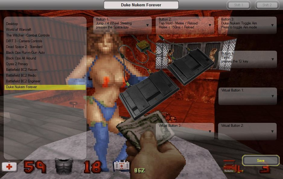 Duke Nukem Stripper foot pedal