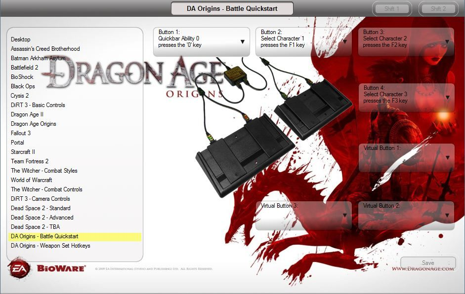 USB Gaming footpedal Dragon Age config