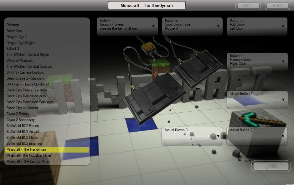 Minecraft Footpedal Gaming Controls