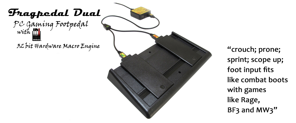 Fragpedal Dual &#8211; <em>PC Gaming Foot Pedal</em>